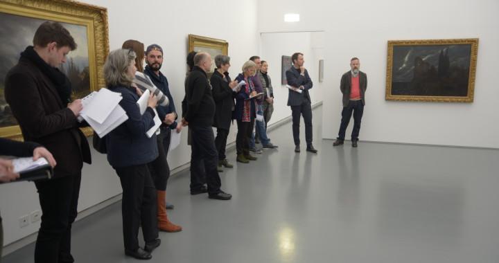 Einführung für alle Ausstellungsbeteiligten im Aargauer Kunsthaus.
