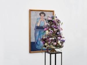 """Florale Interpretation von Andreas Geissmann zum Werk """"Dame im Kimono"""" von Otto Wyler, 1912"""