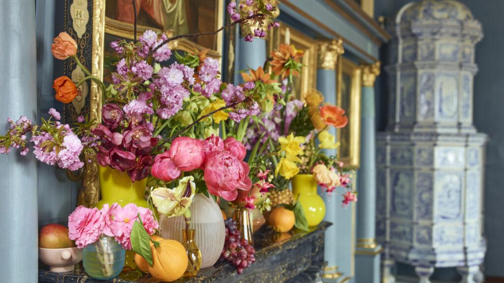 Florale Interpretation von Myrta Frohofer, Meisterfloristin, Unterengstringen und Philipp von Arx, Meisterflorist, Olten. Foto: Adrian Ehrbar Photography